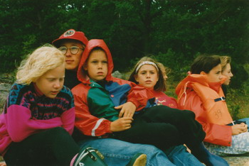 Eric med barn som fryser